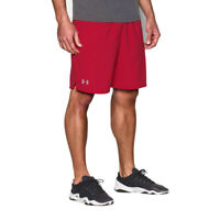 Under Armour Mens Shorts UA HeatGear Qualifier Woven Red Sports Running 9 Inch M