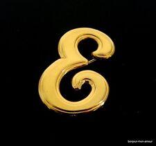 1980's Buchstabe -E- Brosche, Broche, Spilla, Letter E Brooch, Pin
