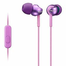 Sony Mdrex110ap Step-up EX Series Earbud Headset Tangle Violet BARGAIN
