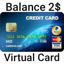 VCC FOR PAYPAL VIRTUAL CREDIT CARD PAYPAL VERIFICATION WORKS WORLDWIDE EXP 2025