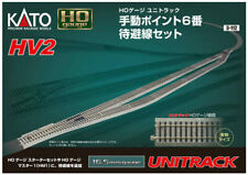 Kato HO Scale UniTrack ~ HV2 Passing Siding Track Set With #6 Turnouts ~ 3-112