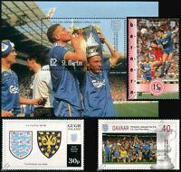 WIMBLEDON AFC FA CUP Winners 1987-1988 Football Stamps (Vinnie Jones / Sanchez)