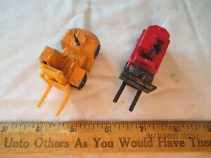 2 diecast vntg Forklift toys -Japan Tomica 1978 Toyota FD200, Playart, HongKong