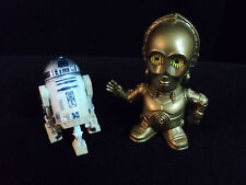 STAR WARS Collectibles! R2D2 HASBRO 2004 ROJ, C3PO 2005 BURGER KING VIEWER T
