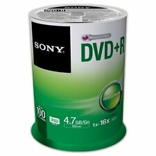 Sony 100DPR47SP Disc Dvd+r 4.7gb For General Use 16x 100/pk Spindle