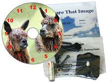 Reloj de pared hágalo usted mismo reloj de CD KIT de llamas puede ser utilizado como un o escritorio