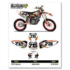 2008-2011 KTM EXC Dirt Bike Graphics Motocross Custom Number Plates