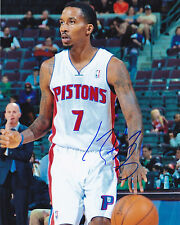 BRANDON JENNINGS DETROIT PISTONS SIGNED 8X10 BASKETBALL PHOTO MILWAUKEE BUCKS