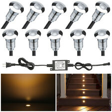 10X 24mm LED Ingound Deck Light Stairs Step Recessed Yard Outdoor Path 12v IP67