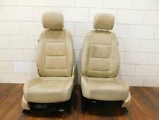 VW Tiguan 5N Leather Trim Seat Leather Beige Heated Seats Original