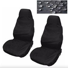 Cubierta de asiento de Coche de Nylon Resistente Al Agua Delantero 2 Negro Protector Para VW Golf Passat Fox
