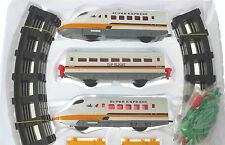 EXPRESS TRAIN SET WITH LIGHT TRACK STATION AND TREES INCLUDED 31 PIECES 16A-3