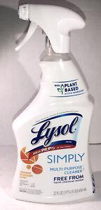 Lysol Simply Multi-Purpose Cleaner-Kills 99.9%-1ea 22oz blt-Orange Blossom Scent