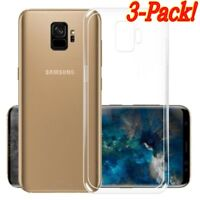 3X Clear Case TPU Rubber Silicone Transparent Cover Protect For Galaxy S9/Plus