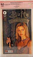 Buffy The Vampire Slayer #1 CBCS 9.0 signed Harry Groener Gold Foil variant CGC
