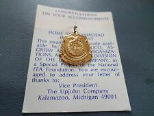 Vintage FFA Future Farmers HOME AND FARMSTEAD IMPROVEMENT Award Medal NEW