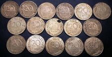 Collection of 16x France 20 Centimes Coins, Dates: 1963 - 1994 - Great Condition