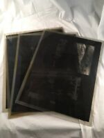Lot of 5 Vintage Old Glass Negative Slide People Swimming Park Waterfall 11x14
