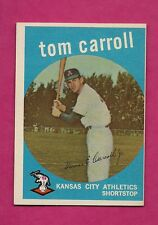 1959 TOPPS # 513 ATHLETICS TOM CARROLL  EX-MT CARD (INV# A2773)