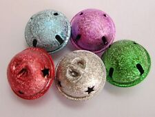 100 Stardust Ball JINGLE BELLS~ Mixed Color~Charms 20mm