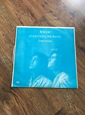 "❣RARE❣️KOREA BLUE COVER 12""•Everything She Wants/Like A Baby~Wham George Michael"