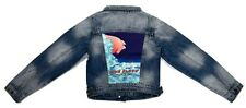 Dragonfly Youth Girls Pink Floyd Concert Poster Denim Jacket New S, M, L, XL