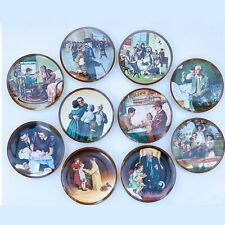 """Norman Rockwell """"The Ones We Love"""" 10 Plate Collection Knowles Coa / Boxes"""