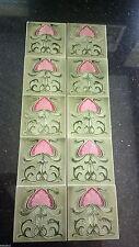 Art Nouveau Fireplace Tiles Architectural Antiques