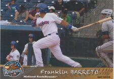 2016 Midland RockHounds Franklin Barreto RC Rookie Oakland Athletics VZ