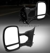 99-07 FORD F250 F350 F450 F550 SUPER DUTY TOWING EXTENDABLE MANUAL MIRRORS BLACK