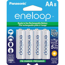 Panasonic Eneloop AA-8 Pre-Charged up to 2000mAh Rechargeable Battery BK-3MCCA8B