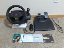 Logitech MOMO Racing Force Feedback PC or Mac Steering Wheel Pedal IN BOX EUC