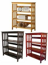 3 Tier Wooden Bookshelf Bookcase Oak, Cherry White or Espresso Finish