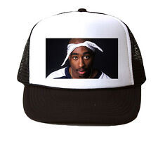2pac Bandana Mesh Trucker Hat Cap Snapback Adjustable Brand New-Black