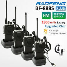 4x BAOFENG BF-888S Plus Walkie Talkies UHF 400-470MHZ Two Way Radio VOX Scanner