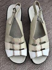 Ladies Sandals Hotter Mango Size 4.5 Beige Mix EXCELLENT CONDITION