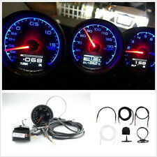 "2in1 Round 7 Light Color 2.5""/62mm Car Vehicles Turbo Boost Gauge Voltage Meter"