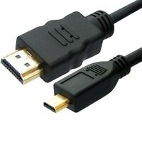 2M MICRO HDMI to HDMI Cable Lead 1080p for Amazon Kindle Fire HD LCD TV Out UK