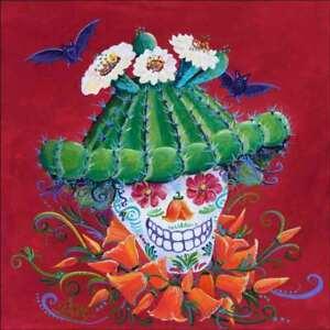 Dame Betty Accent & Decor Tile Susan Libby Southwest Art SLA022AT