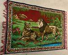VINTAGE Tapestry Pride Of Lions 1970's VINTAGE