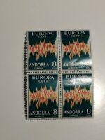ANDORRE  xx 1972 EUROPA cept 540.00 euros RARE bloc de 4
