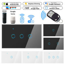 Smart WiFi RF Light Switch  Wall Touch Panel Alexa Google Home APP Remote Y