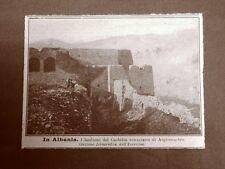 In Albania nel 1919 I bastioni del Castello veneziano di Argirocastro