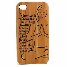 Yoga Namaste Case for iPhone 7 Plus Bamboo Wood Phone Cover Pose Medit