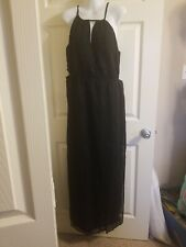 Twelfth Street by Cynthia Vincent Womens Black Halter Maxi Dress  Size Large