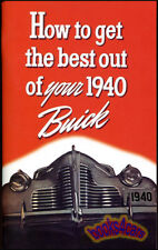 1940 Buick Owners Manual Handbook Guide Book (Fits: Buick)