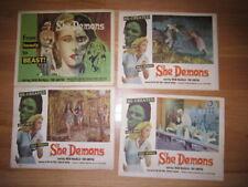 SHE DEMONS   7 Lobby cards Irish McCalla 1958 horror