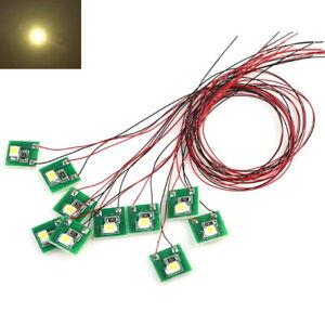 S206 - 10 Stück LED Beleuchtung warmweiß mit Kabel 12-19V Hausbeleuchtung Häuser