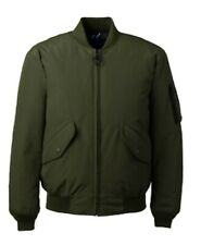 Lands' End Mens 2XL Green Squall DOWN Insulated Bomber Jacket Waterproof Coat