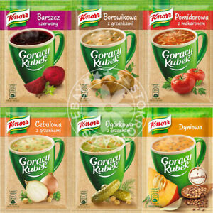 KNORR Instant CUP SOUP Goracy Kubek - Pick your Flavor -US Seller/Quick Shipping